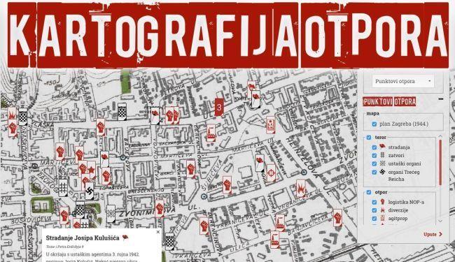 PROTIV DEMONIZIRANJA PARTIZANA: Mapa ustaškog terora i otpora u Zagrebu