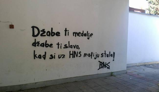 PORUKA JANICI S MAKSIMIRA: Džabe ti medalje, džabe ti slava...!