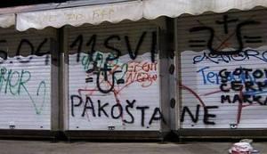 NE U NAŠEM GRADU - ŠIBENIK: Šibenski antifašisti čistili ustašluke sa zidova svoga grada!