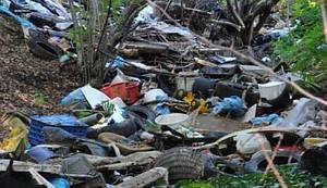 TUMOR NA PLUĆIMA GRADA (FOTO): Rijeka smeća potekla obroncima Parka prirode