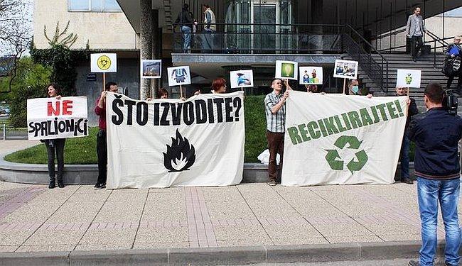 NE U MOM DVORIŠTU: Zelena akcija protiv zagrebačke spalionice otpada