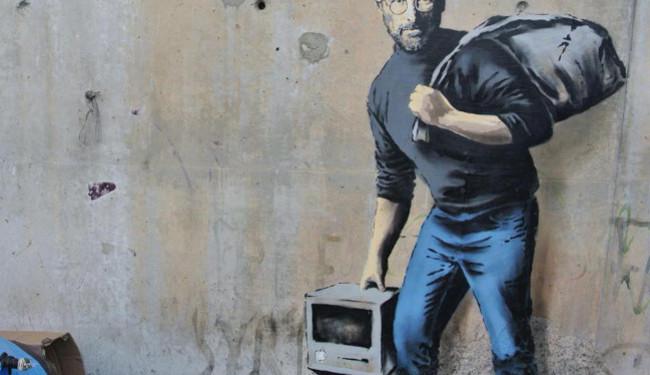 """REAKCIJE NA MURAL S LIKOM STEVEA JOBSA: """"Banksy je seronja"""""""