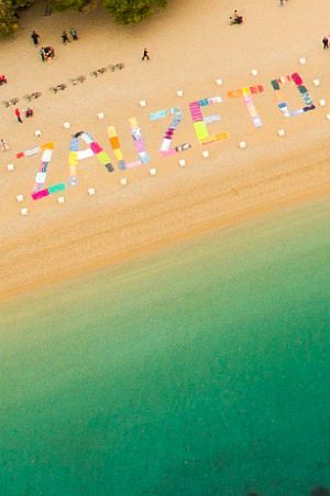 ZAUZETO: Građani ručnicima za plažu poslali poruku sa Zlatnog rata