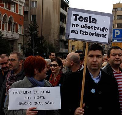 Protest za Teslu