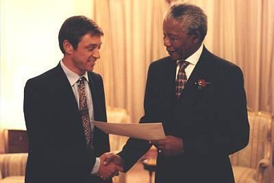 Guy Standing Nelson Mandela