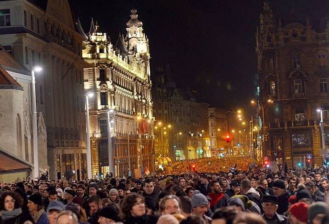 Protesti Budimpešta