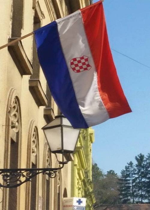 Ustaška zastava u Zagrebu