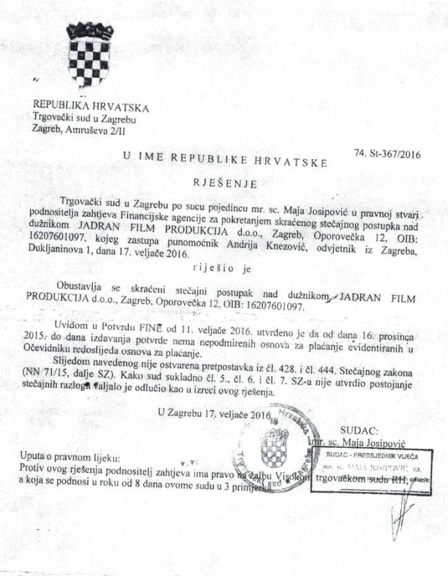 Stečaj Jadran film