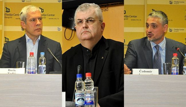 Boris Tadić, Nenad Čanak, Čedomir Jovanović