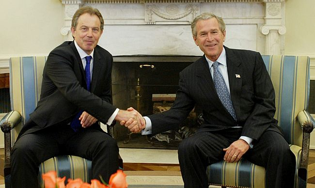 Tony Blair George Bush