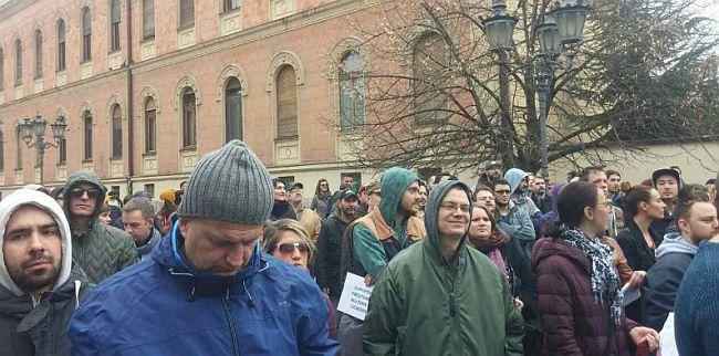 Protest Novi Sad kod Kurala