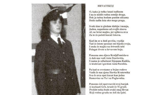 """""""DOMOVINO ZA TE I POGLAVNIKA"""": Pjesmuljci koje je Ruža Tomašić recitirala u ustaškoj uniformi"""