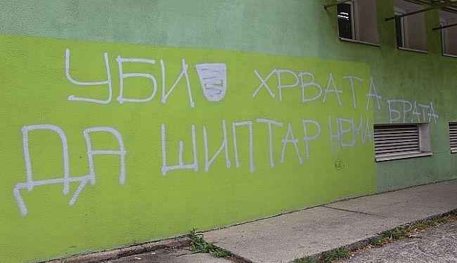 """REAKCIJA NA """"UBIJ HRVATA DA ŠIPTAR NEMA BRATA"""": SDSS i SNV osudili grafit u Novom Sadu"""