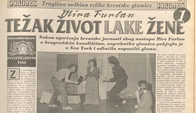 PRONAŠLI SMO HUŠKAČKI FELJTON GLOBUSA: Ovako su o Miri Furlan pisale 'perjanice hrvatskog žurnalizma'