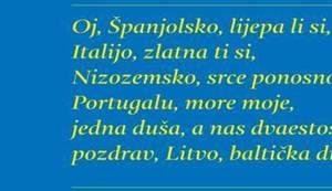 HOMMAGE A M. P. THOMPSON: Oj, Španjolsko, lijepa li si, Italijo, zlatna ti si, Nizozemsko, srce ponosno