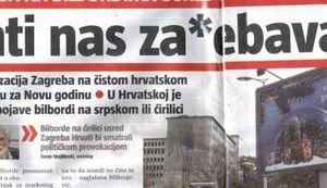 HRVATI NAS ZA*EBAVAJU: Dođite u Zagreb - poručuju u Beogradu