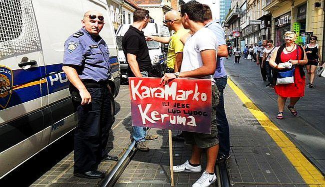 """EPILOG JEDNOG UHIĆENJA: Sud odlučio da """"KaraMarko Keruma ili jebe lud ludoga"""" nije uznemirujući transparent"""
