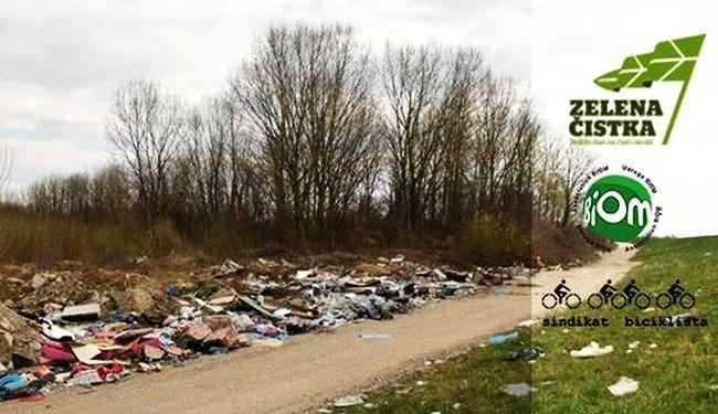 SUBOTA, SAVSKI NASIP: Ponesite gumene rukavice, biciklisti čiste smeće!