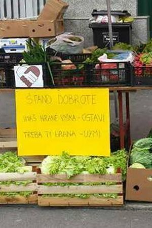 HUMANO LICE DANAŠNJICE: Prodavači daruju hranu onima koji si je ne mogu priuštiti