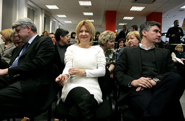 Zlatko Komadina, Milanka Opačić i Zoran Milanović