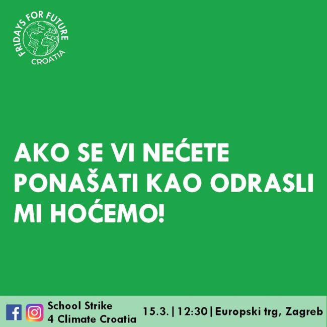 School Strike 4 Climate Croatia