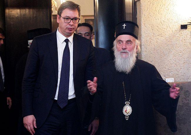 Aleksandar Vučić - patrijarh Irinej