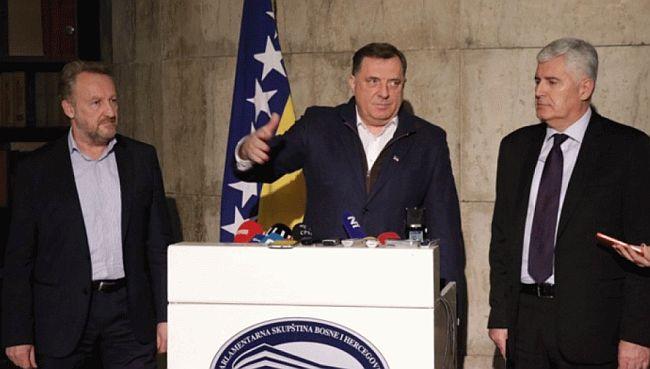 Bakir Izetbegović, Milorad Dodik, Dragan Čović