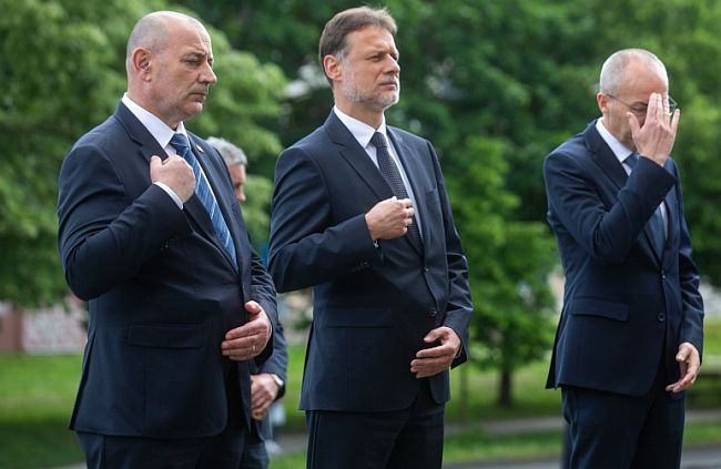Tomo Medved, Gordan Jandroković i Damir Krstičević