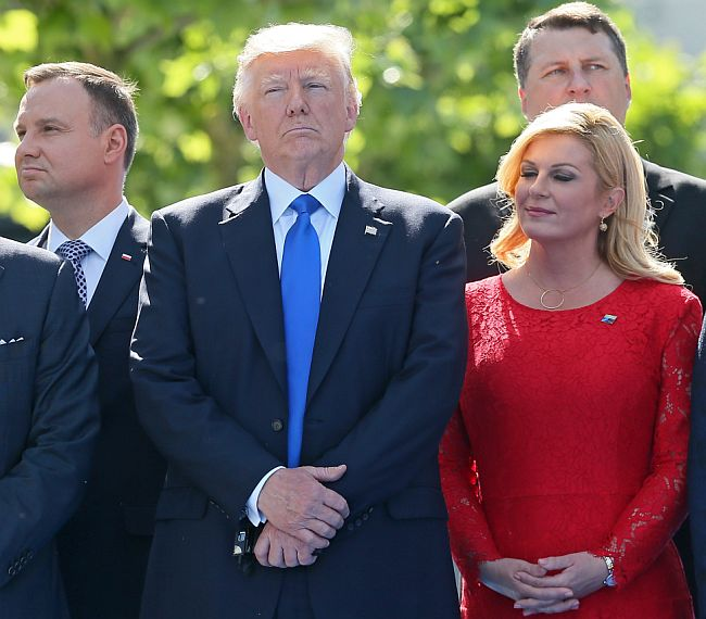 Kolinda Grabar Kitarović - Donald Trump