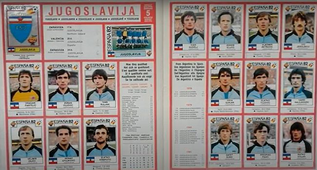 Panini - Jugoslavija 1982