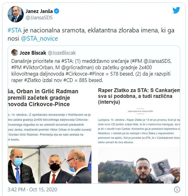 Twitter Janez Janša