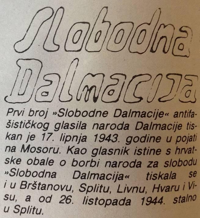 Impresum Slobodna Dalmacija