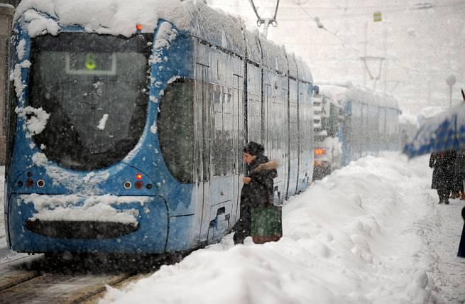 Tramvaj snijeg