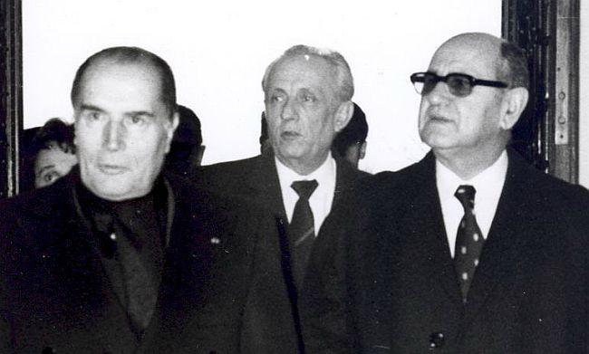 François Mitterrand i Mika Špiljak