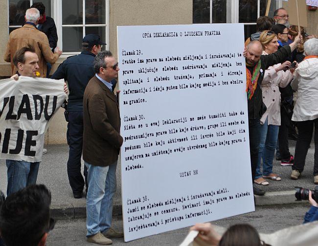 novinarski prosvjed