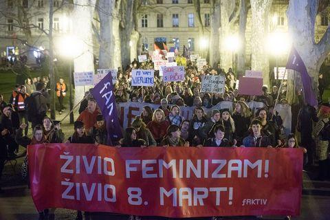 Noćni marš u Zagrebu