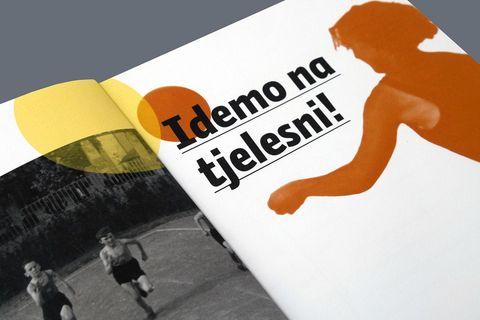 """Katalog izložbe """"Idemo na tjelesni"""" u Hrvatskom sportskom muzeju iz 2019. godine"""