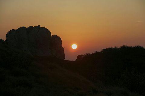 Velebitski zalazak sunca