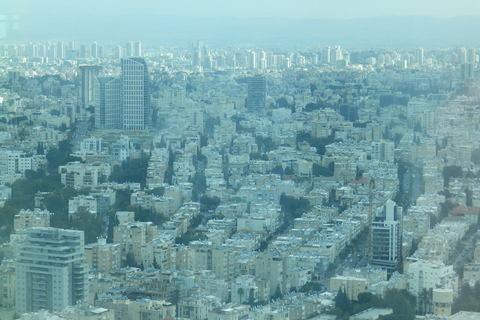 """Pogled na """"Bijeli grad"""" sa 49. kata Azrieli Centra, najvišeg vidikovca na Bliskom Istoku"""